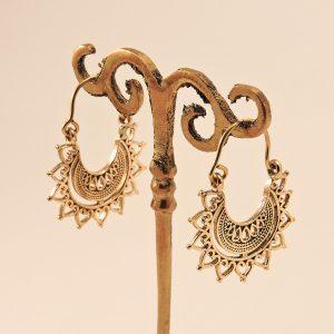 Boucles d'oreilles en laiton doré