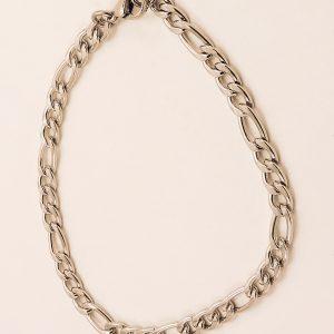 Bracelet type gourmette en acier inoxydable