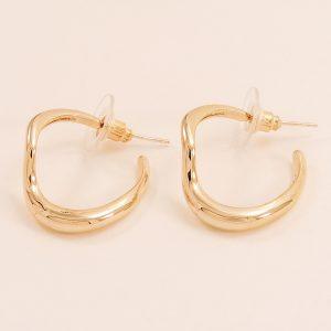 Boucles d'oreilles femme en acier inoxydable