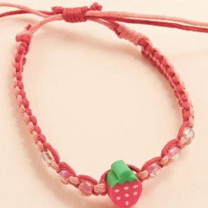 Bracelet fille fraise