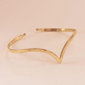 Bracelet femme en laiton doré