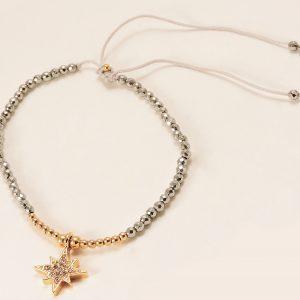 Bracelet doré et argenté avec breloque étoile