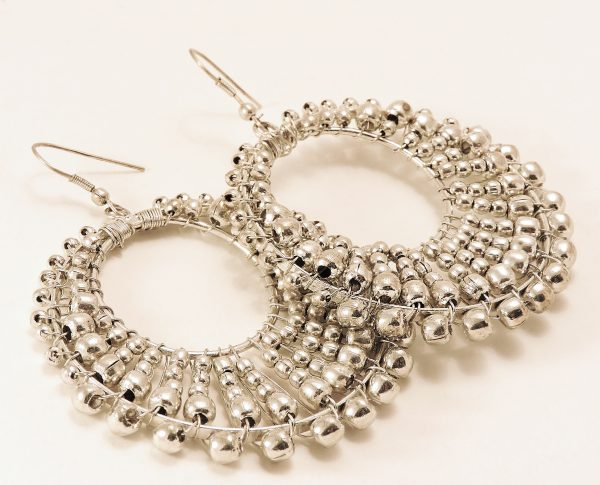 Boucles d'oreilles pendantes argentée