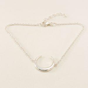Bracelet en argent 925 motif lune